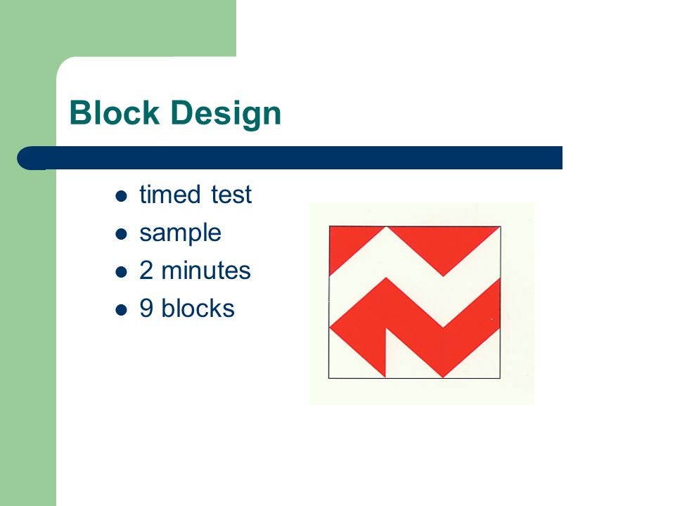 WISC IV Block Design Keyword Data Related WISC IV Block