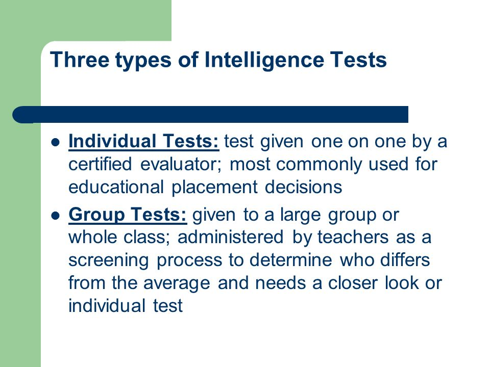 An examination of iq tests and intelligence Research paper