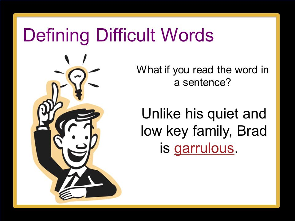Defining Difficult Words