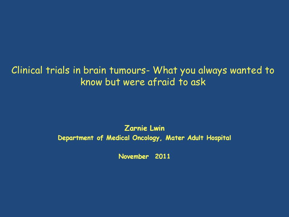 Department of Medical Oncology, Mater Adult Hospital