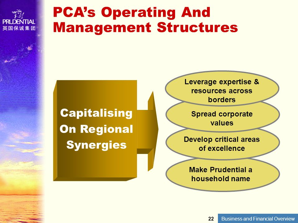 PCA's Operating And Management Structures