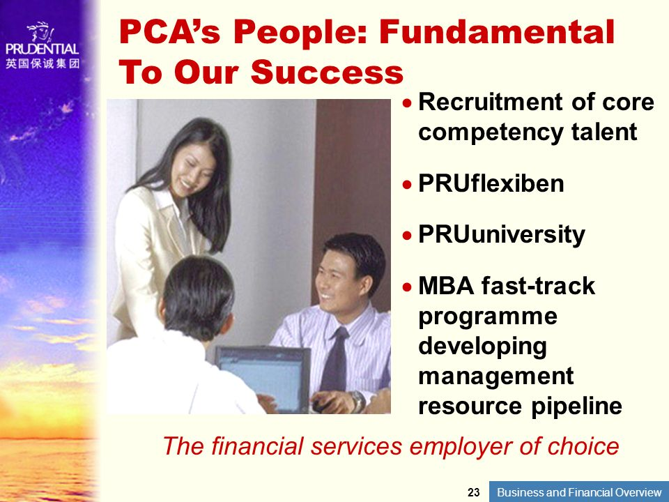 The financial services employer of choice