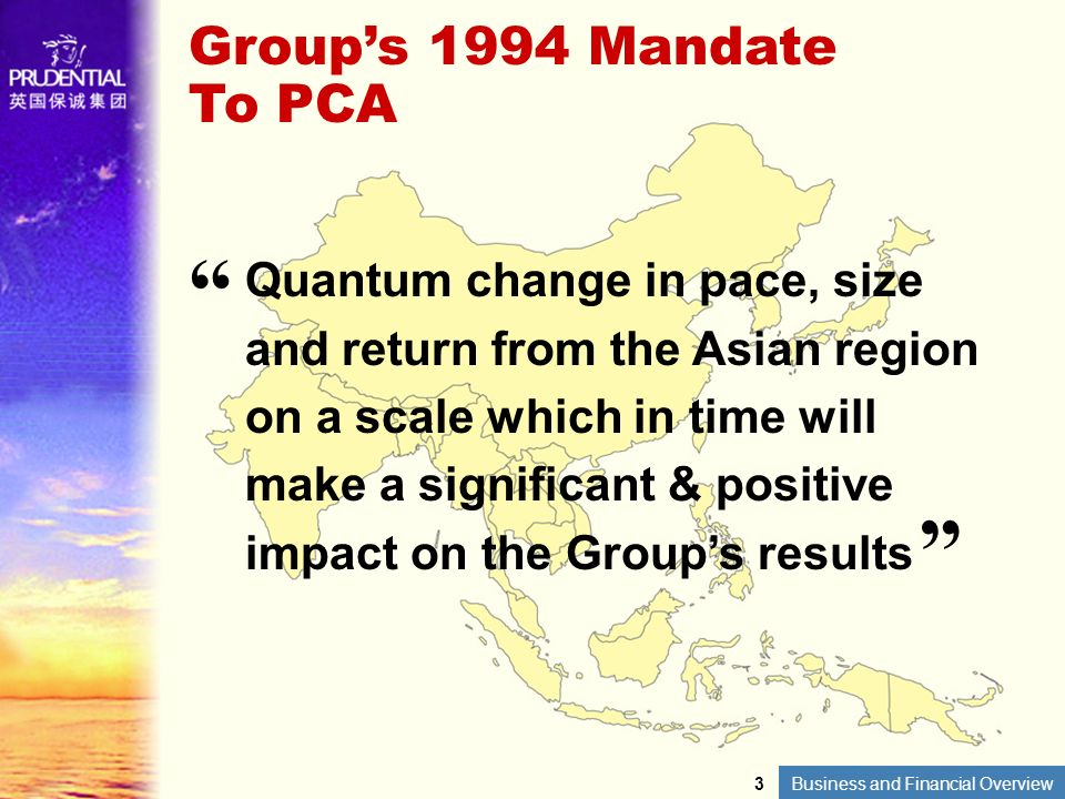 Group's 1994 Mandate To PCA