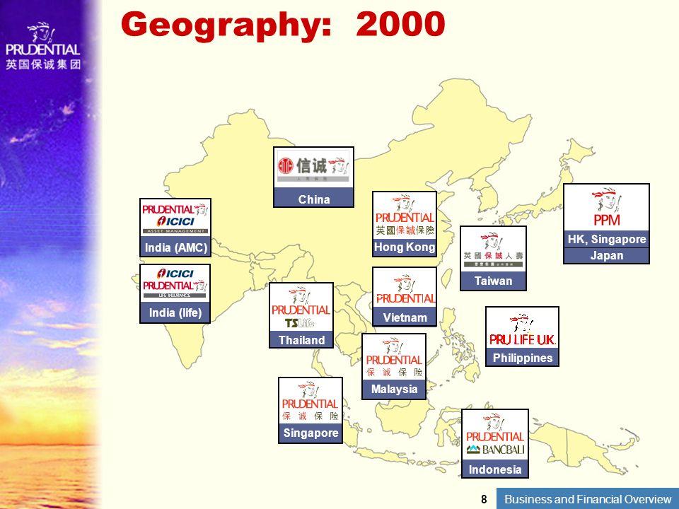 Geography: 2000 China HK, Singapore Japan Hong Kong India (AMC) Taiwan