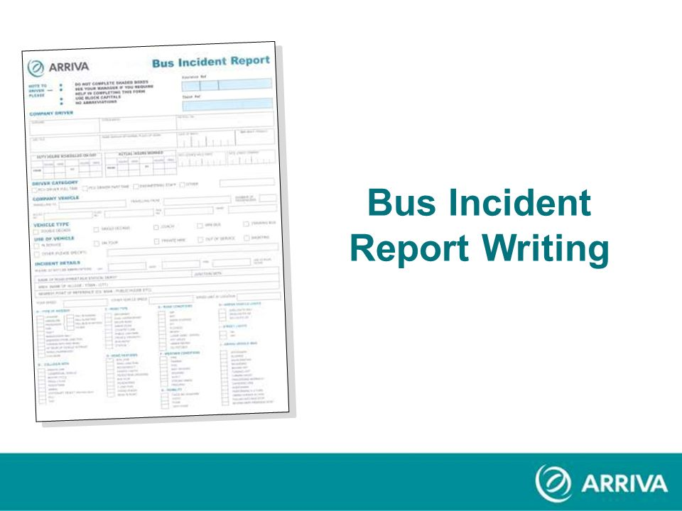 Bus Incident Report Writing