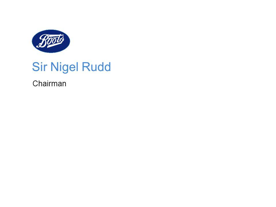 Sir Nigel Rudd Chairman Good morning. I am Nigel Rudd.