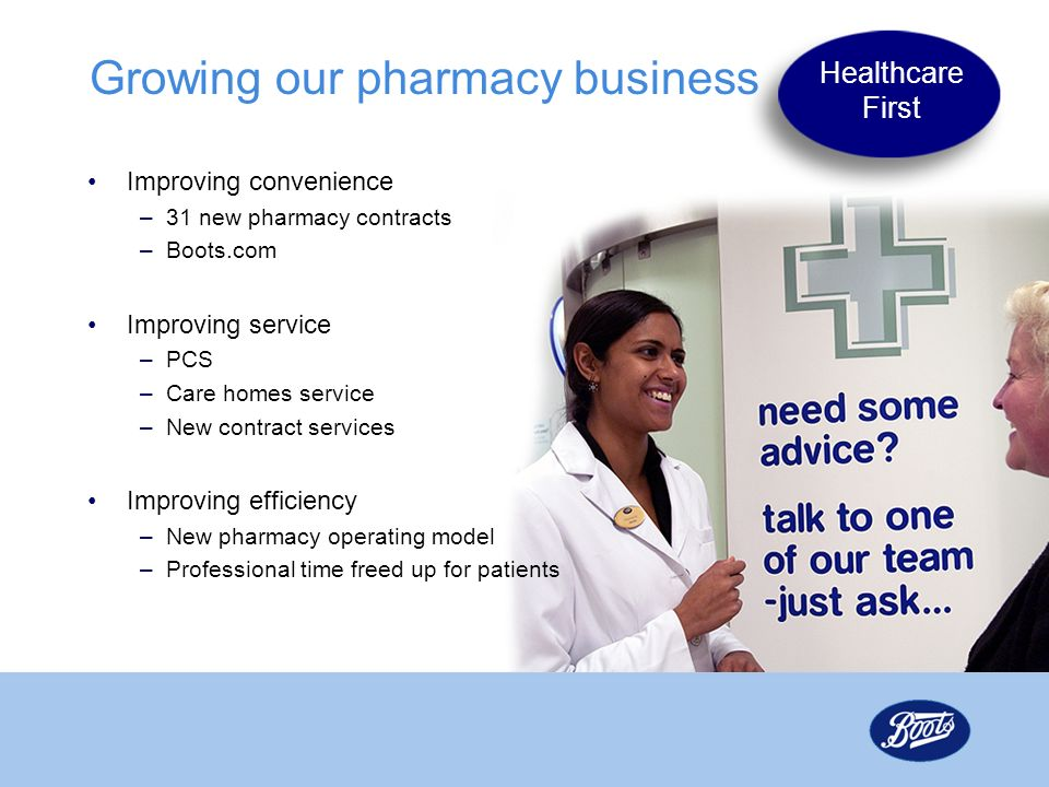 Growing our pharmacy business