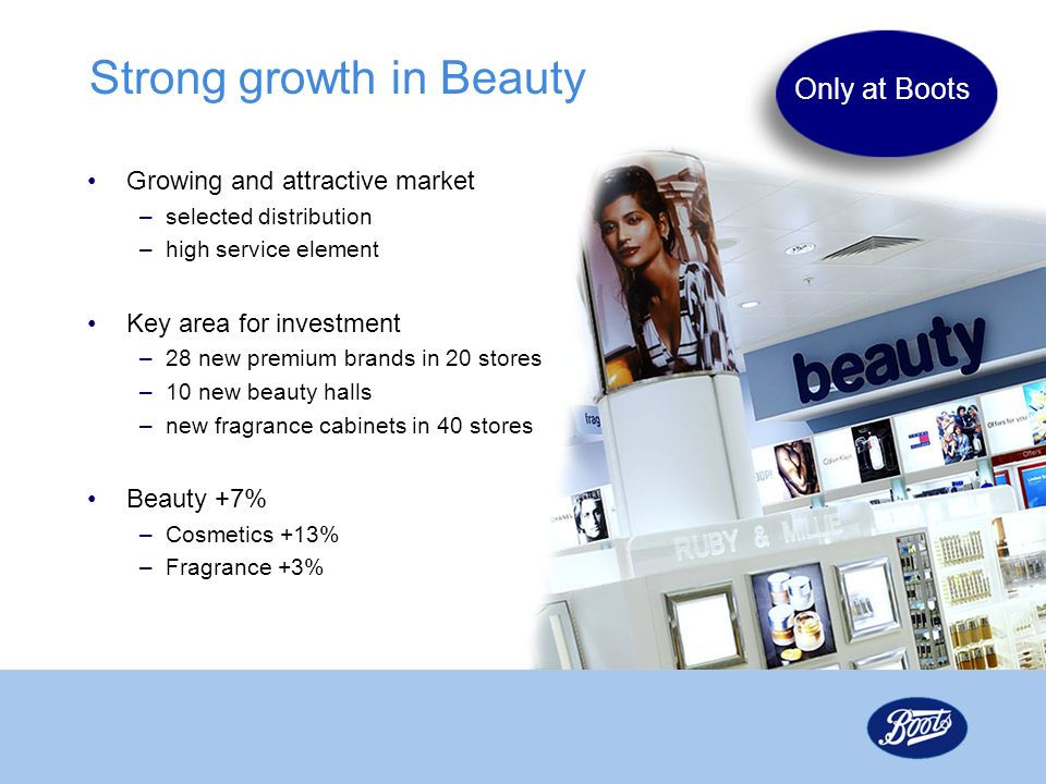 Strong growth in Beauty