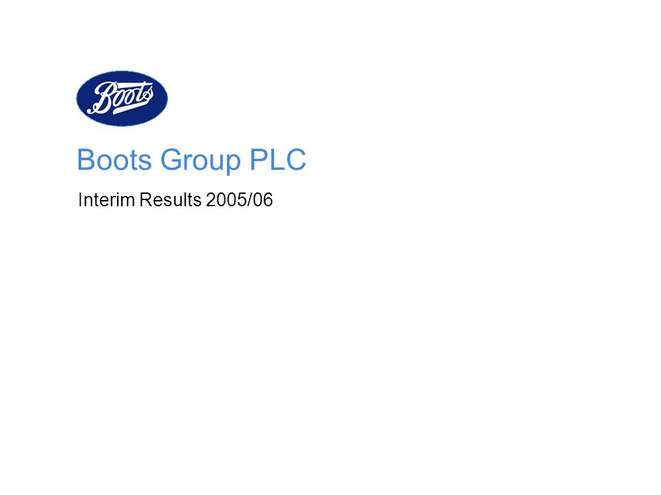Boots Group PLC Interim Results 2005/06