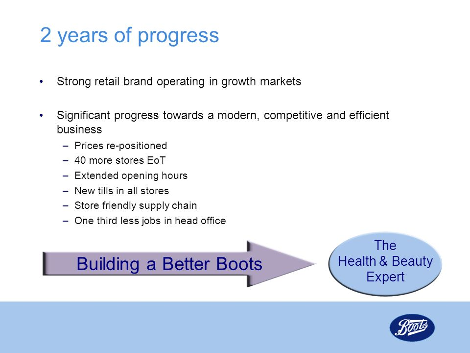 2 years of progress Building a Better Boots The Health & Beauty Expert