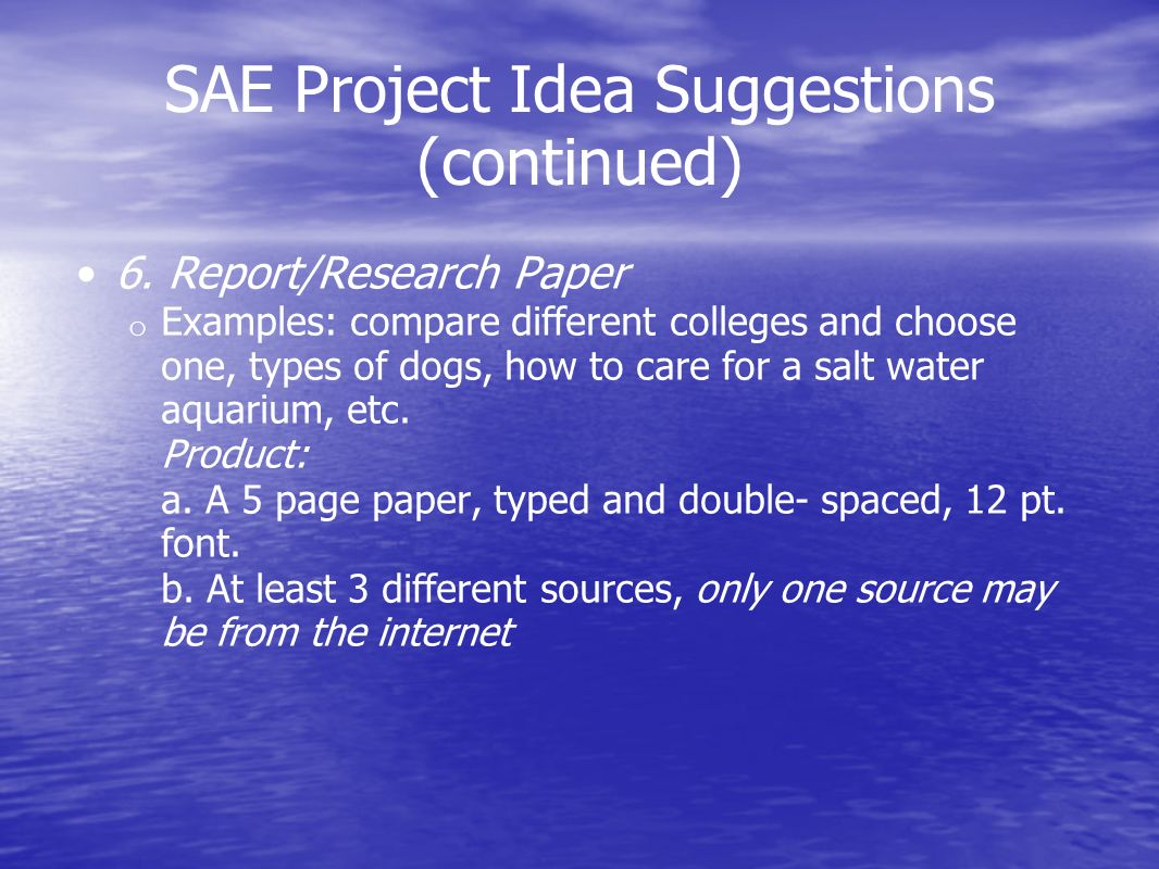 sae project essay Learn with sae sae international is the global leader in technical learning for the mobility industry whether you are an engineer or business professional looking.