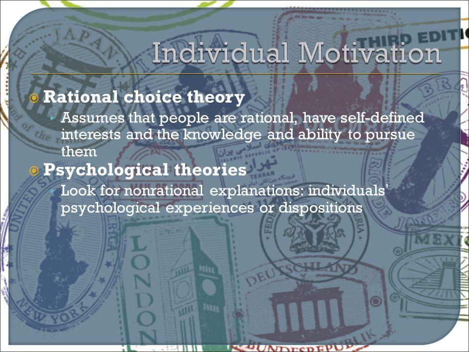 Individual Motivation