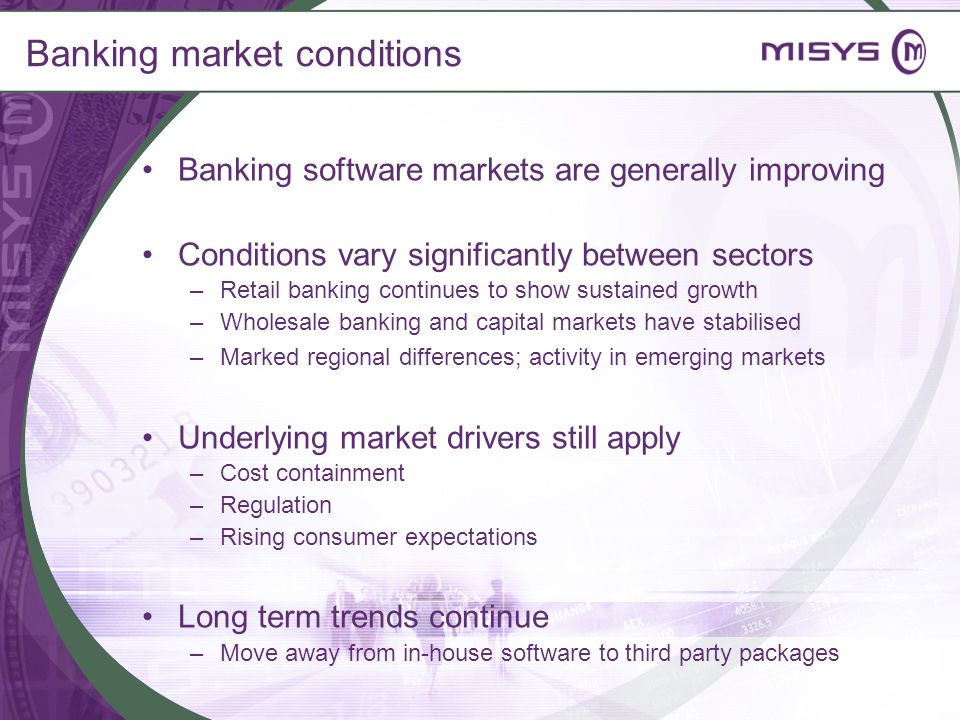 Banking market conditions