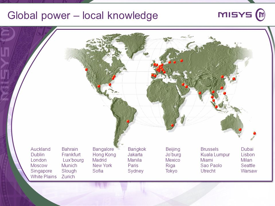 Global power – local knowledge