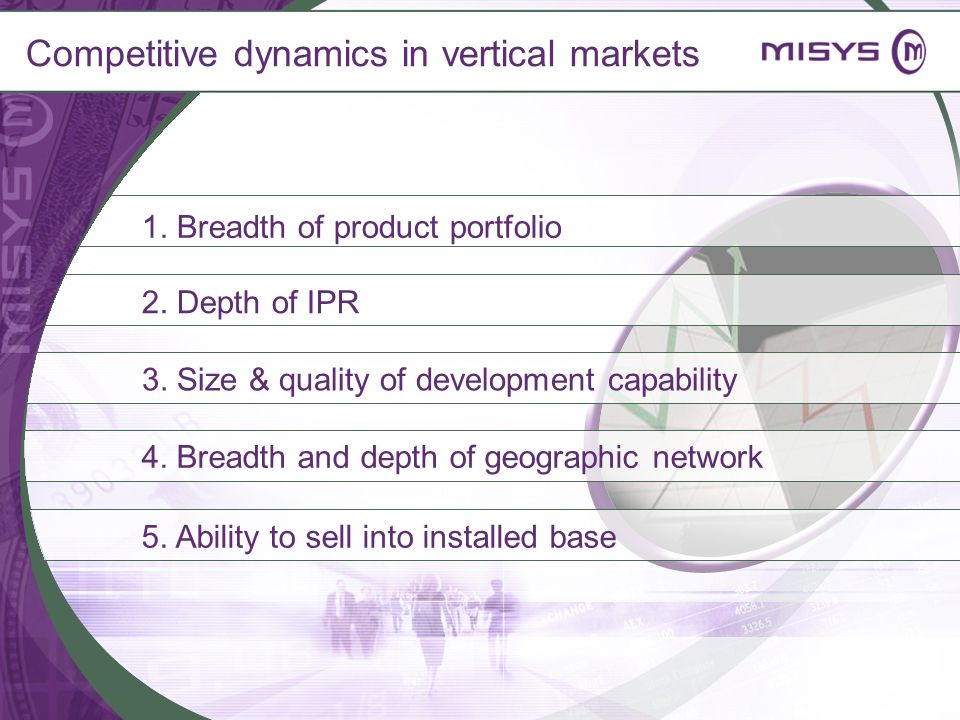 Competitive dynamics in vertical markets