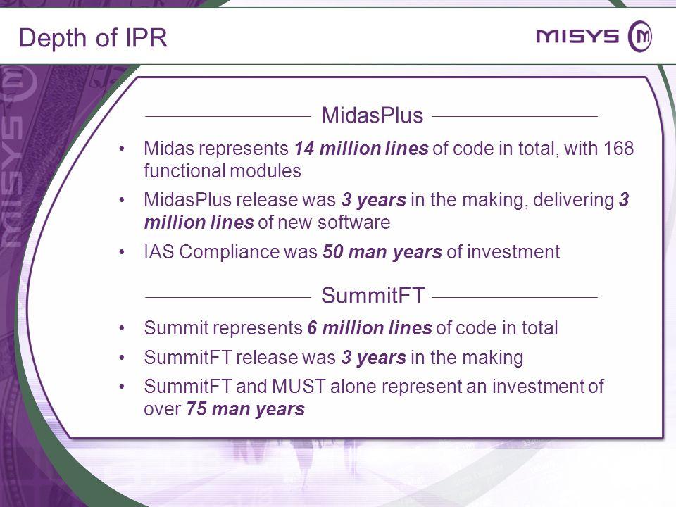 MidasPlus SummitFT Depth of IPR