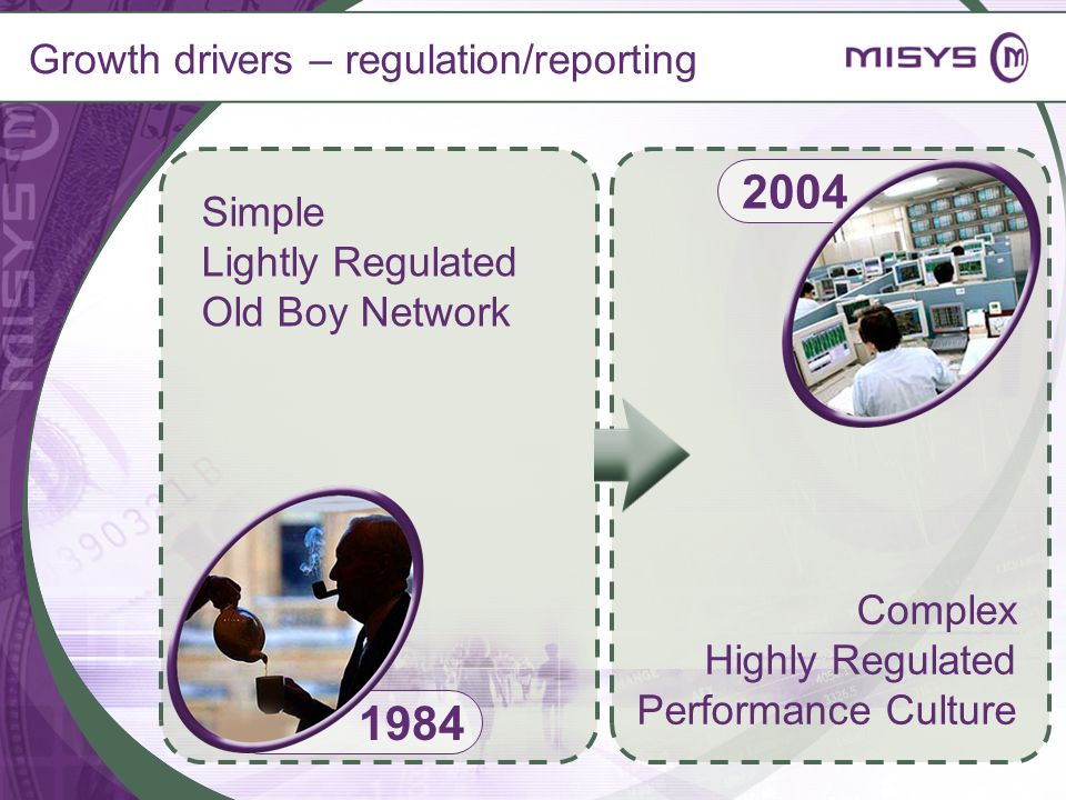 Growth drivers – regulation/reporting