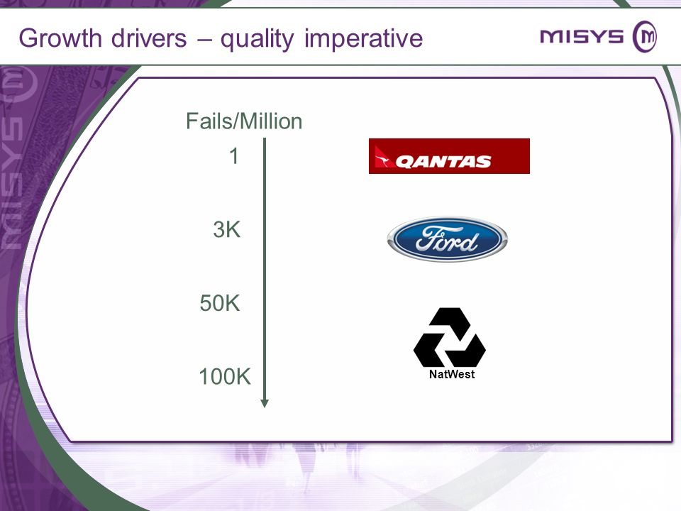 Growth drivers – quality imperative