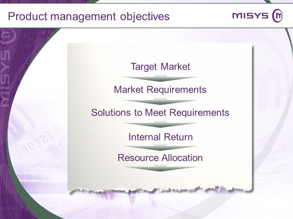 Product management objectives