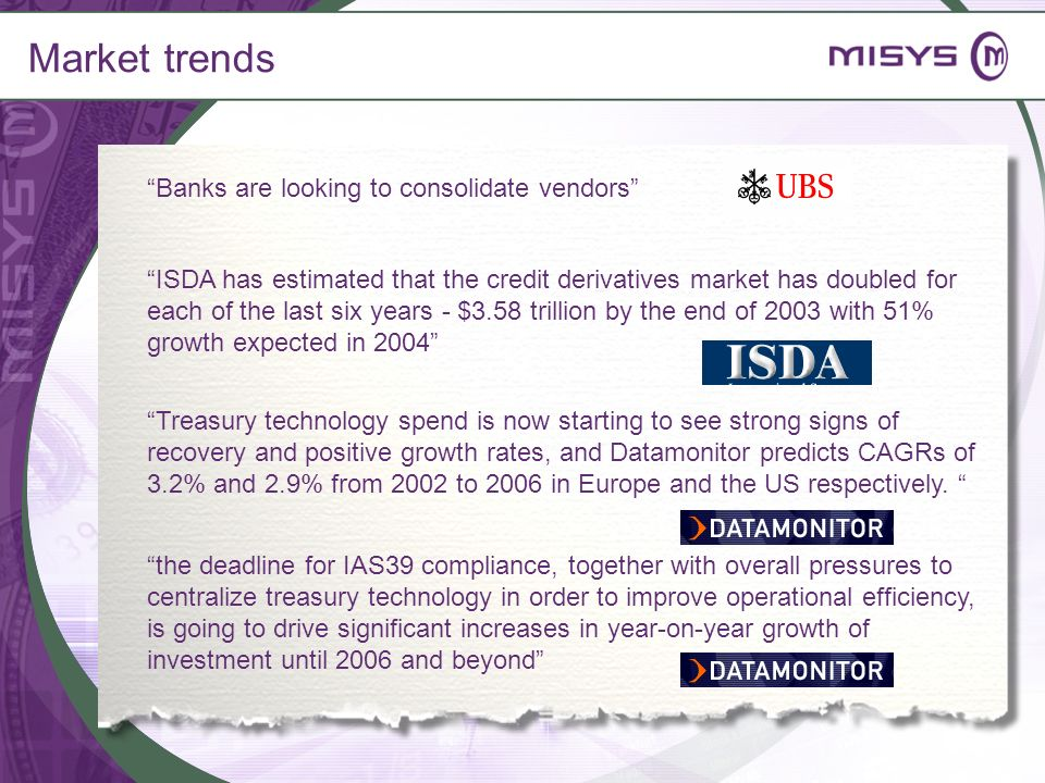 Market trends Banks are looking to consolidate vendors