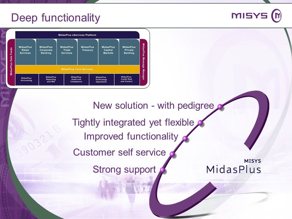 Deep functionality New solution - with pedigree