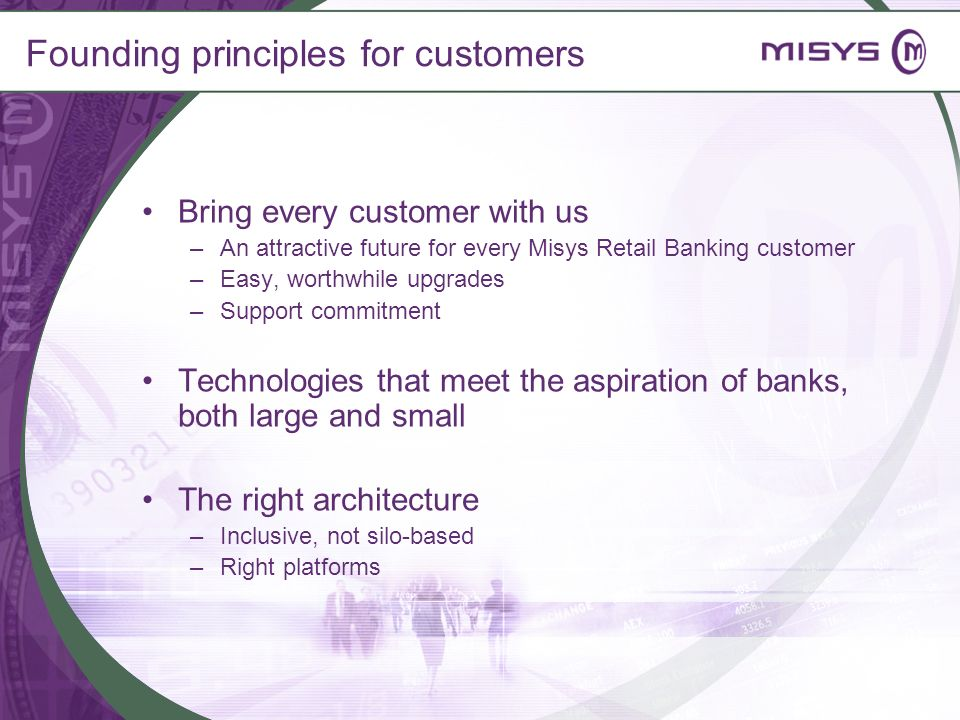 Founding principles for customers