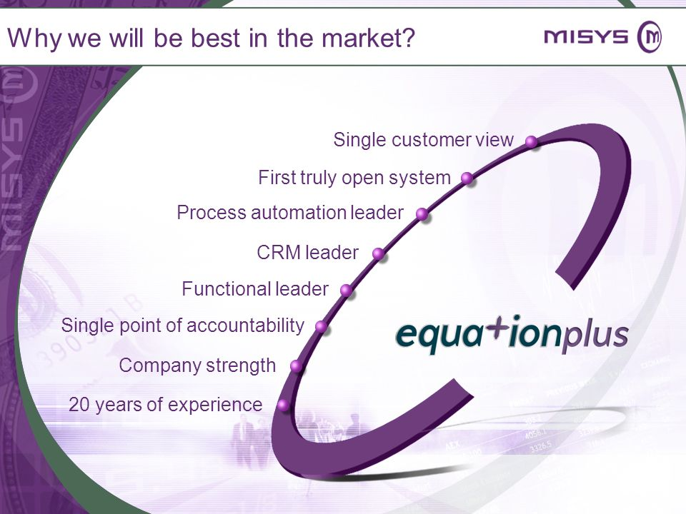 Why we will be best in the market