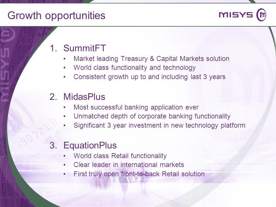 Growth opportunities SummitFT MidasPlus EquationPlus