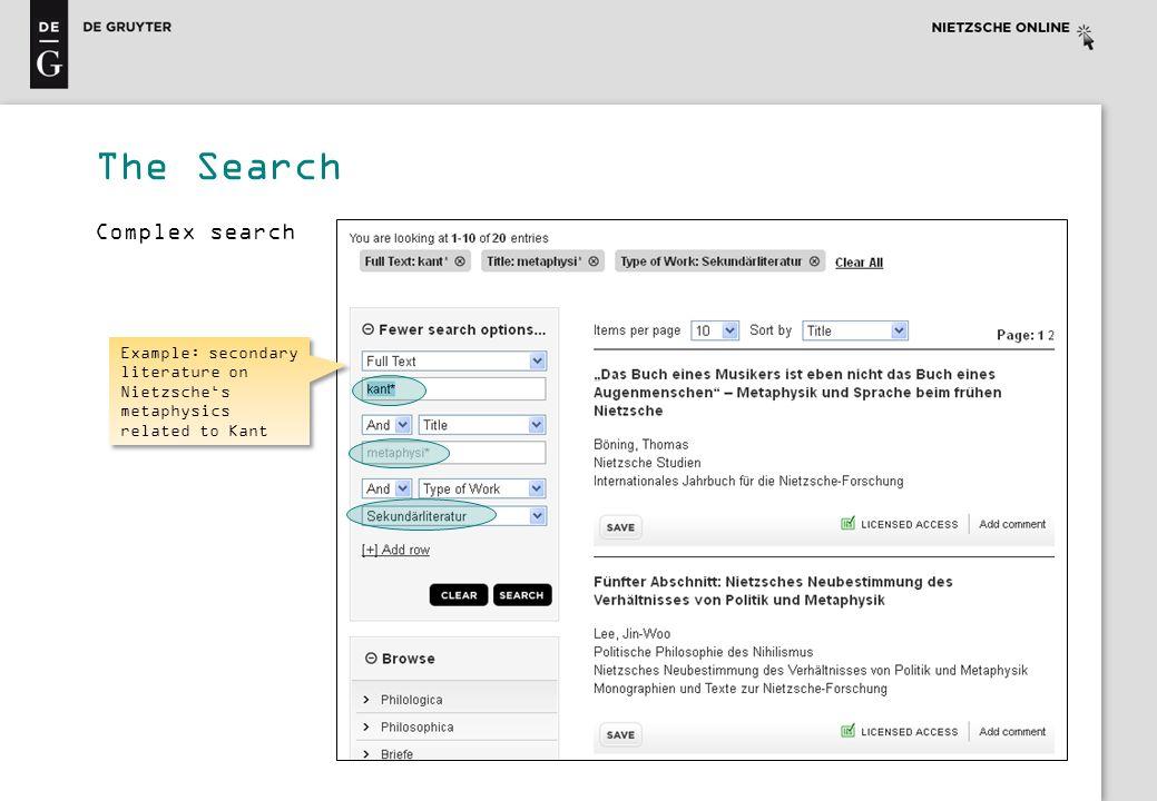The Search Complex search