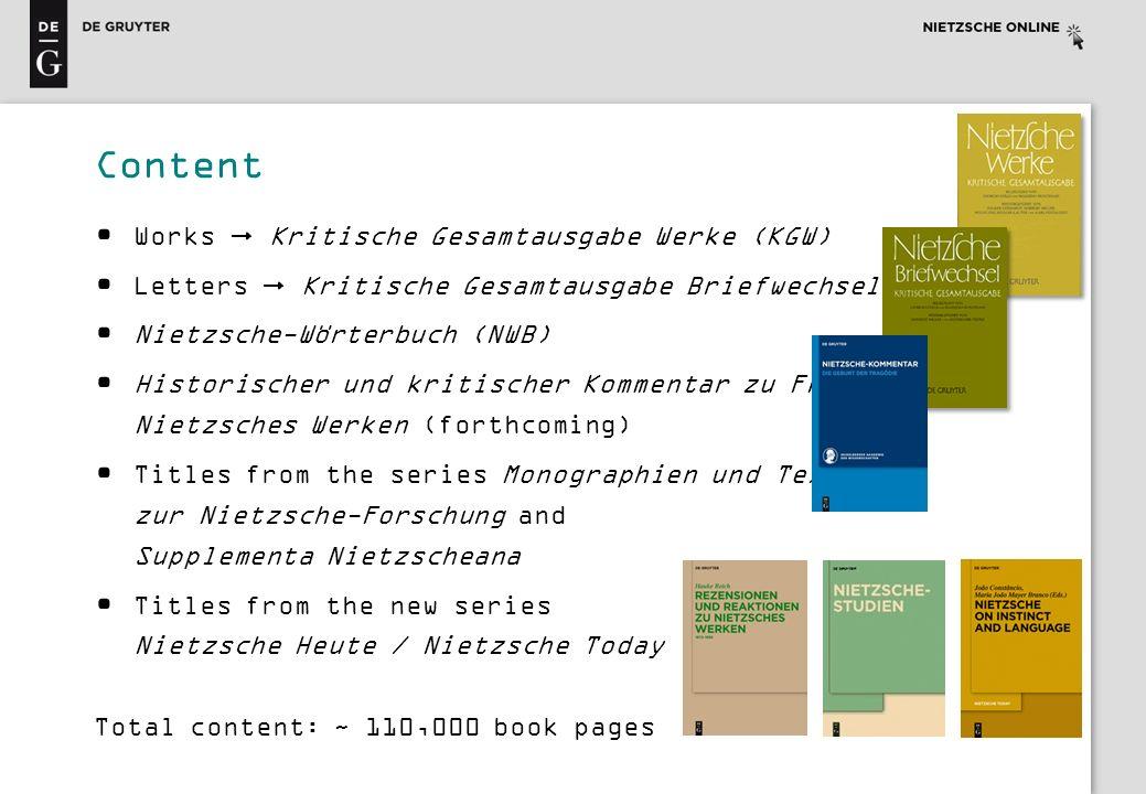 Content Works  Kritische Gesamtausgabe Werke (KGW)