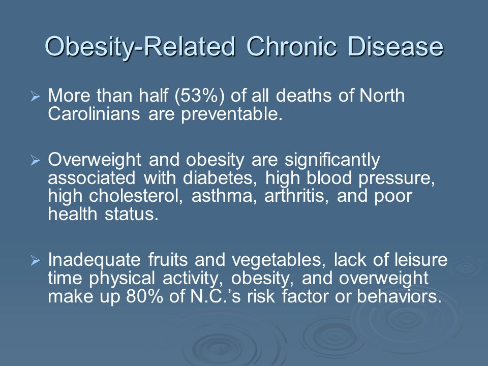 Obesity-Related Chronic Disease