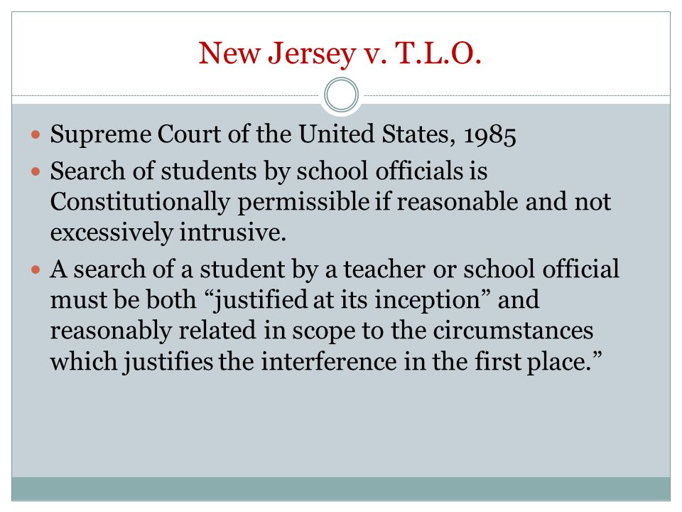 Facts and Case Summary - New Jersey v. T.L.O.