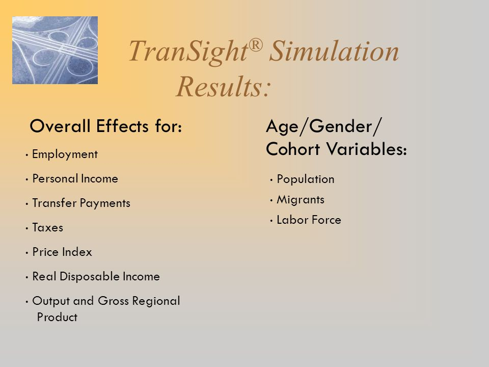 TranSight® Simulation Results: