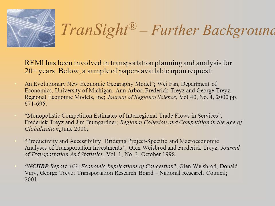 TranSight® – Further Background