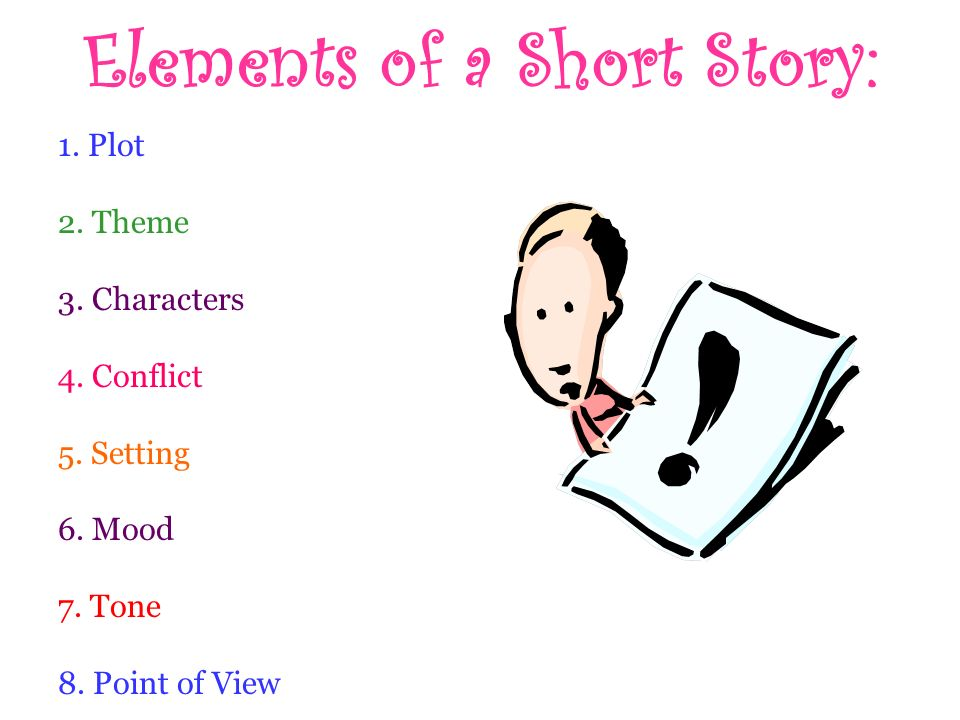 elements of a short story Introduction: describes the setting, introduces the main character, and most importantly, presents an inciting force the inciting force is the event which begins the conflict and compels the main character to act/react.
