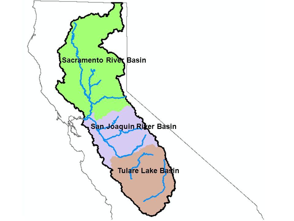 Sacramento River Basin San Joaquin River Basin
