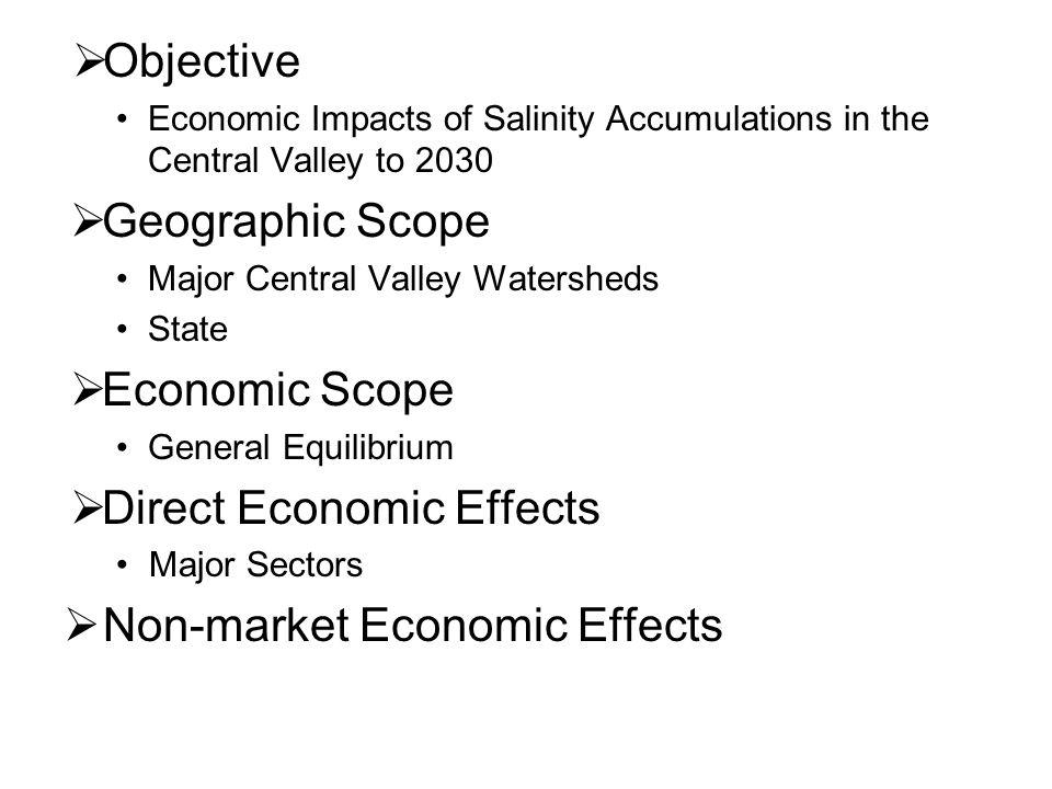 Direct Economic Effects Non-market Economic Effects