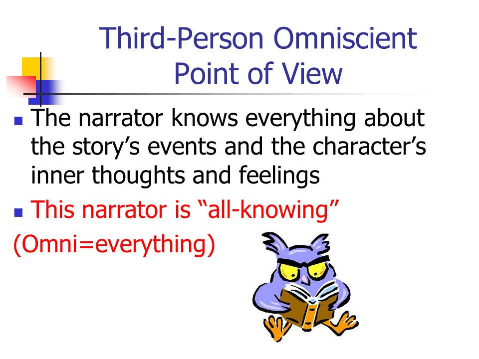 omniscient point of view in this Omniscient and limited omniscient points of view a narrator who knows everything about all the characters is all knowing, or omniscient a narrator whose knowledge is limited to one character, either major or minor, has a limited omniscient point of view.