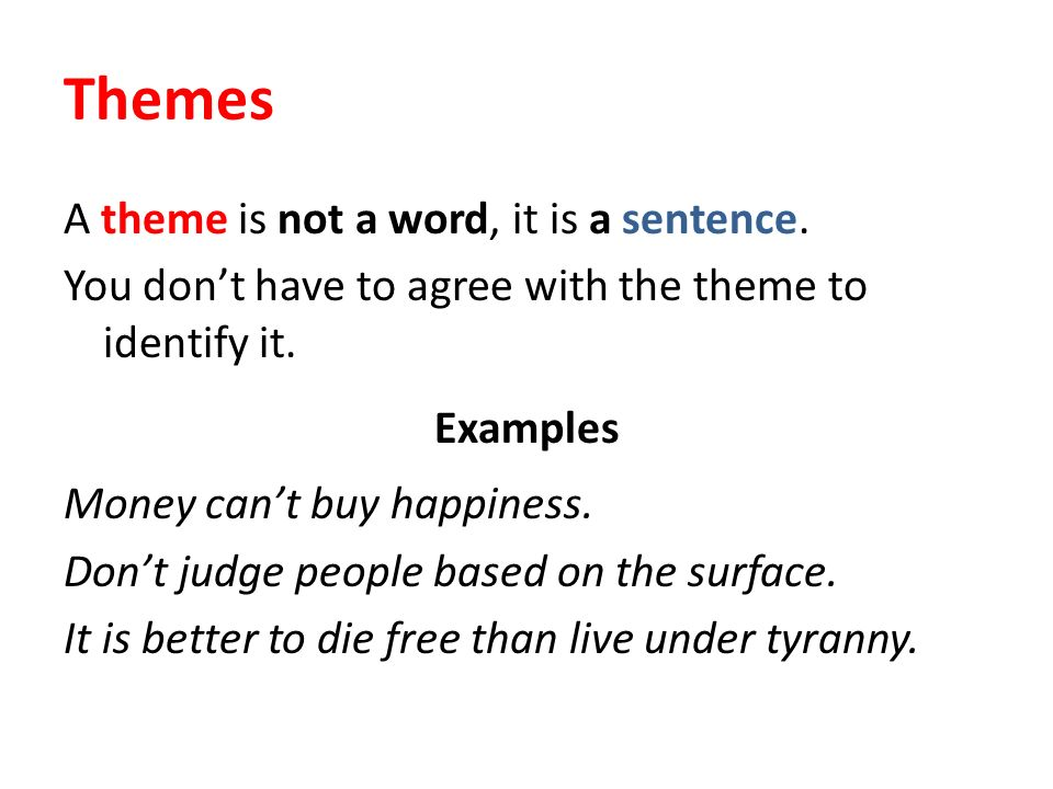 the word theme