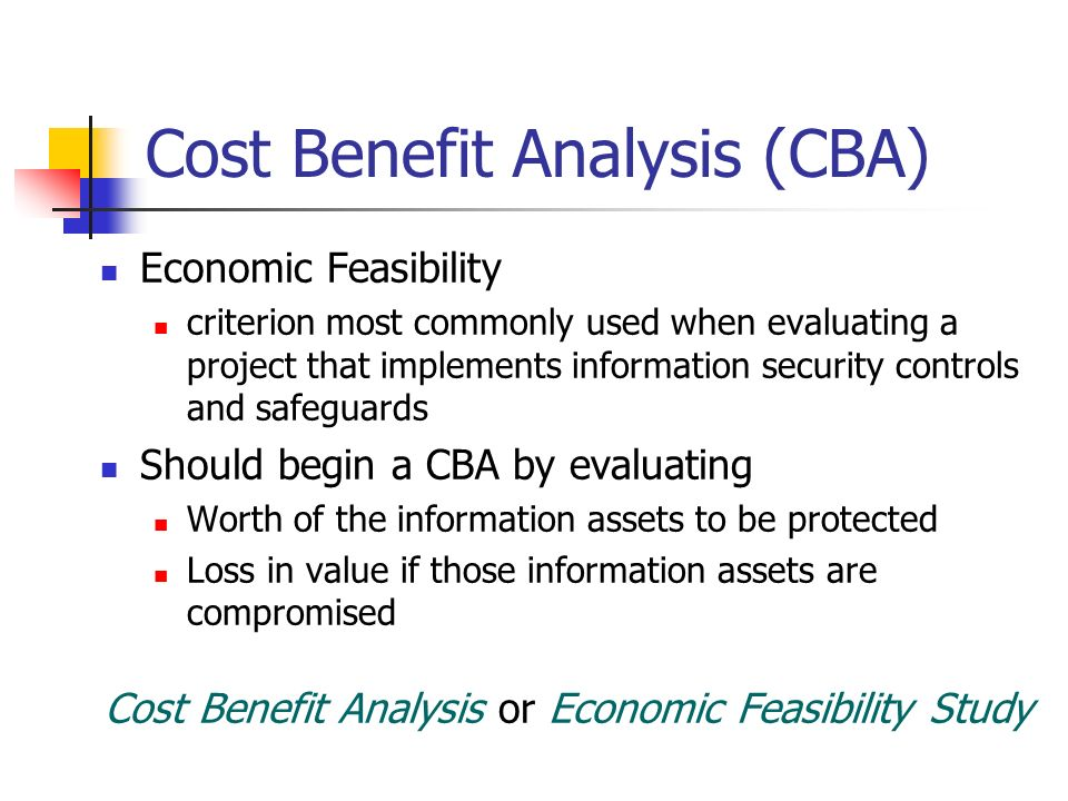 the importance and benefits of the cost benefit analysis cba Methods for valuing costs and benefits in economic analyses  there has been  an increased interest in the use of cost−benefit analysis (cba) in the pacific in   the importance of natural resources to the economy of the pacific island region.