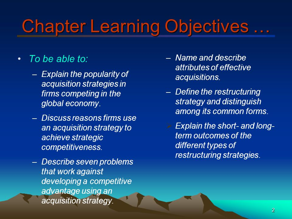 Hitt Chapter 7 – Acquisitions And Restructuring Strategies - Ppt