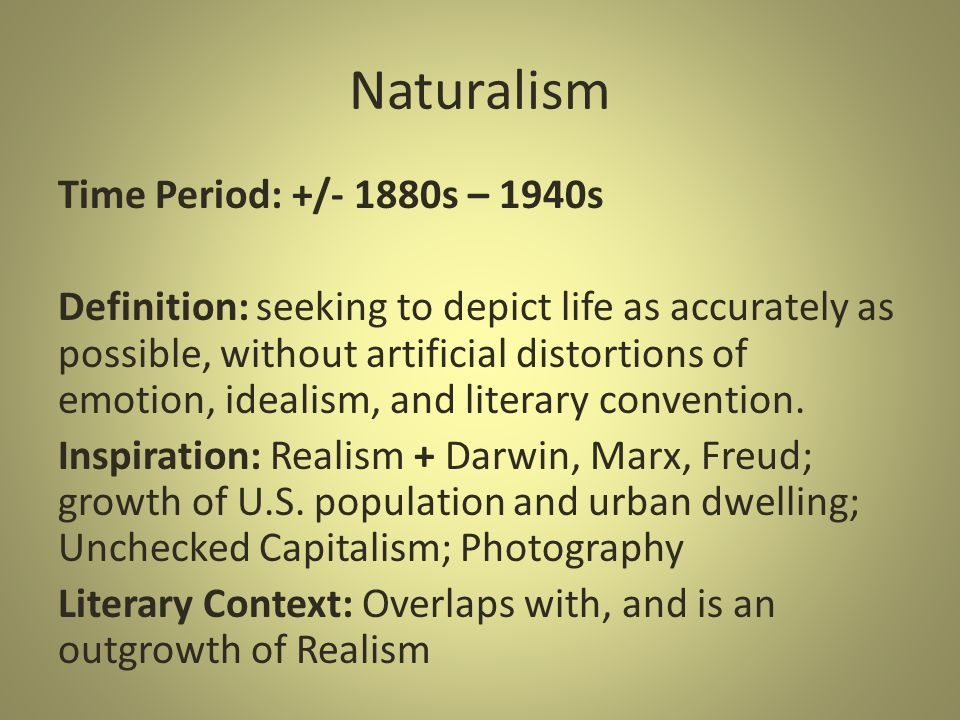 """the influence of realism and naturalism Realism, naturalism, regionalism, romanticism by prof vz on march 16 """"in local-color literature one finds the dual influence of romanticism and realism."""