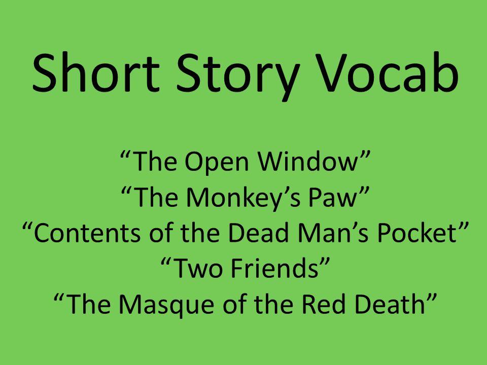 short story and monkeys paw theme