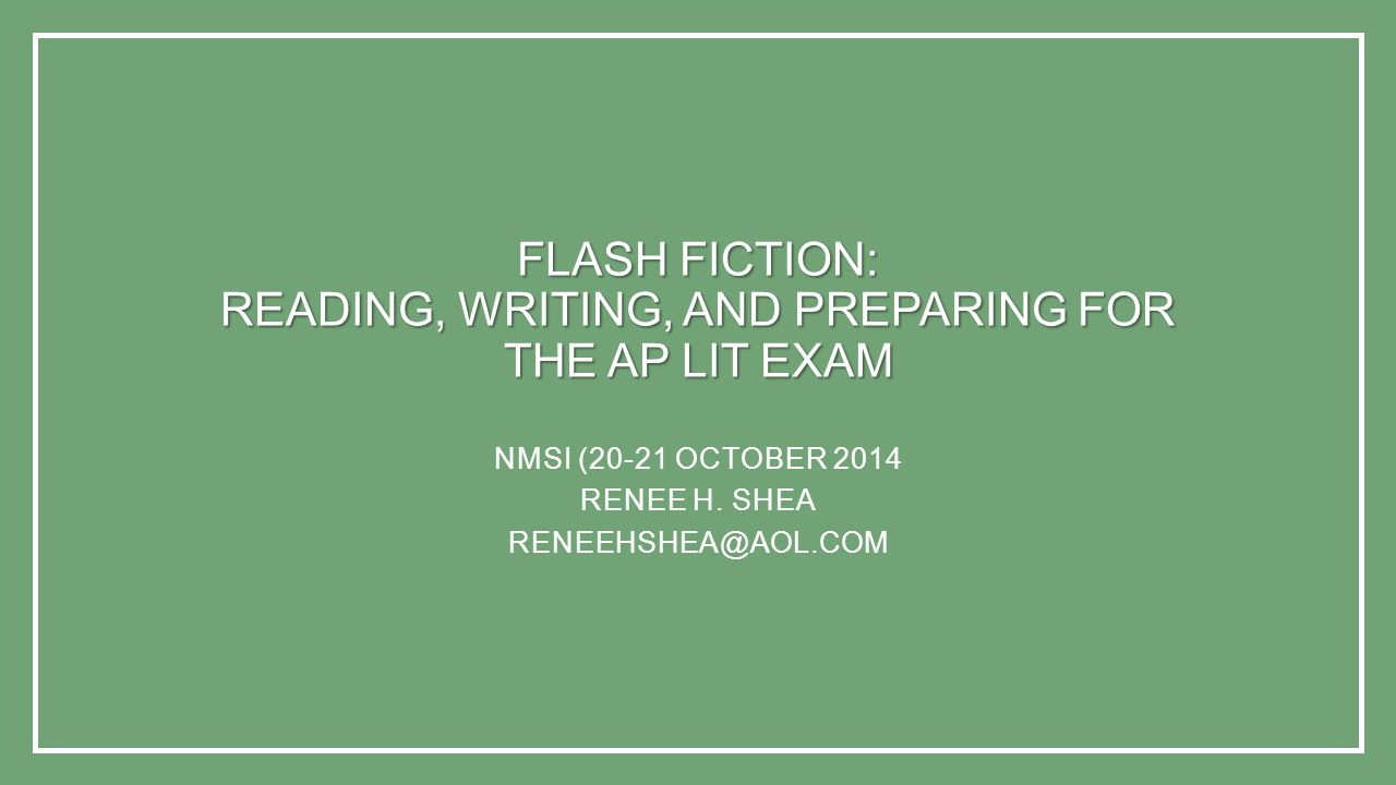 Flash Fiction: Reading, Writing, and Preparing for the AP Lit Exam