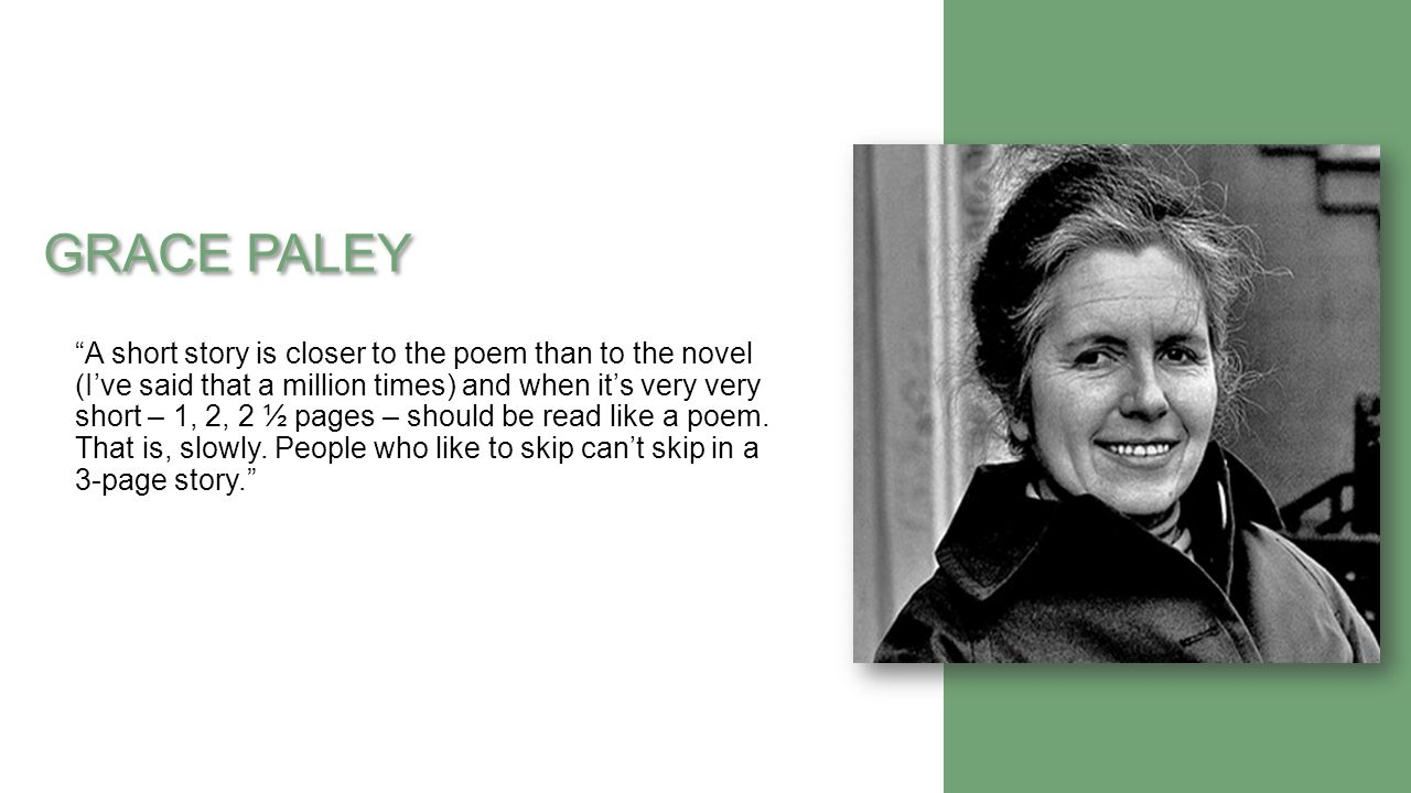 samuel grace paley essay A moral debate portrayed in grace paley's samuel pages 2 words 815 view full essay  sign up to view the complete essay show me the full essay show me the full essay  this is the end of the preview sign up to view the rest of the essay read the full essay more essays like this: grace paley, moral debate on samuel, samuel not sure.