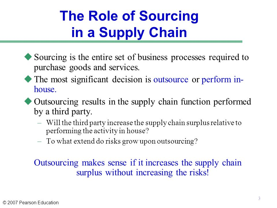benefits of outsourcing in supply chain There are a multitude of benefits companies gain by outsourcing supply chain management and logistics to a value-added 3pl provider third party logistics offers an.