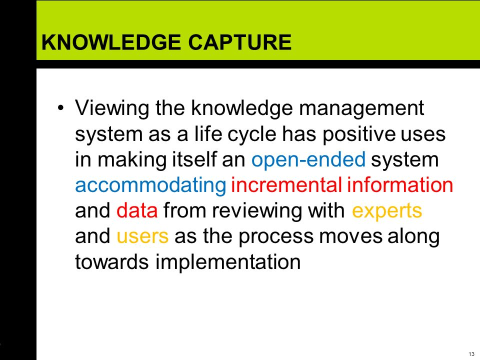 KNOWLEDGE CAPTURE