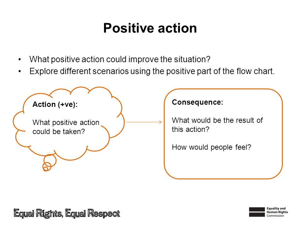 Positive action What positive action could improve the situation