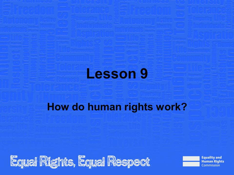 How do human rights work