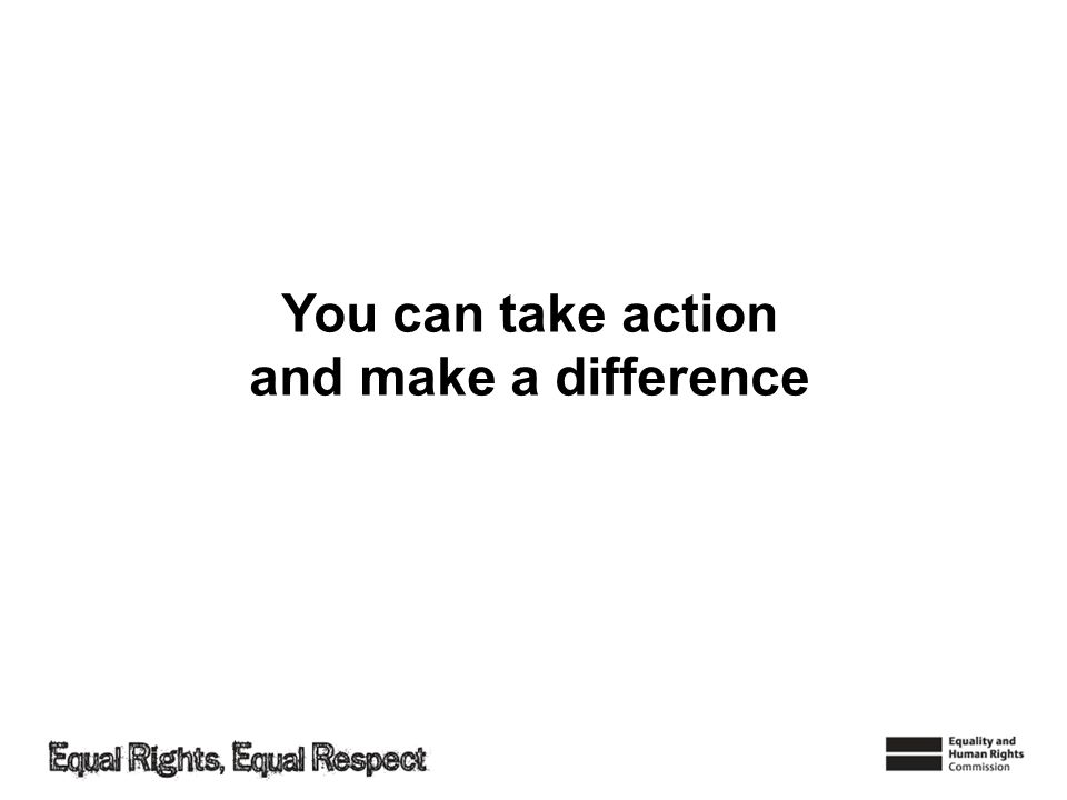 You can take action and make a difference
